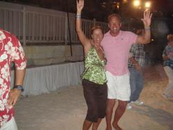 At the beach party on Wed. nights