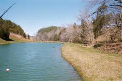 One of the two catch and release lakes