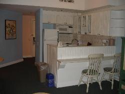 Boardwalk villa kitchen