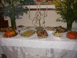 New Years party spread