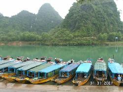 Boats and extremely clear water in Phong Nha - Ke Bang (1754307)
