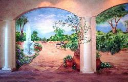 Mural in front dining area