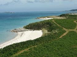 The Golden sands of Tresco