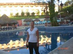 main pool in the morning. The building is building 2