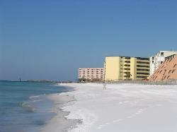 The beach by The Islander