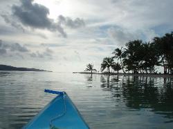 Kayaking in the evening - bay of resort