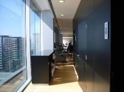 13ème étage, vue de la salle de fitness