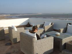 reading on the terrace
