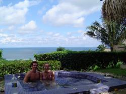 Private hot tub outside Punta Islita
