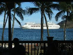 Cruise ship at the Marriott