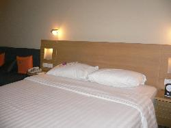 the comfortable double bed