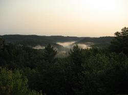 View from Natural Bridge in the morning