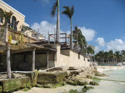 Royal Hideaway/Hurricane Dean front of Spices restaurant