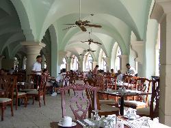 open buffet area at breakfast