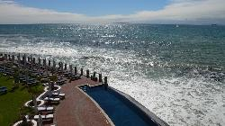 View to swimming pool and sea