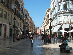 shopping street in Malaga, Spain (17176629)