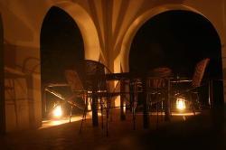 The Upstairs Bar at Night
