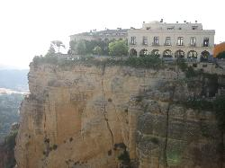 Hotel on the edge of the gorge