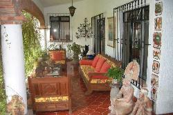 The welcoming front patio at Los Artistas