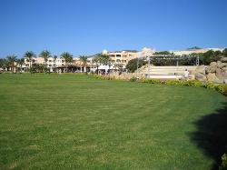 Vu de l'hotel au point de départ de la navette pour la plage