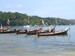 Longtail boats at Patong Beach