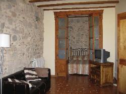 Living area, one bedroom