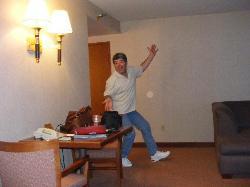Brian arrives in Vegas