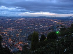 Twilight view over Bogota from Monserrate (17316546)