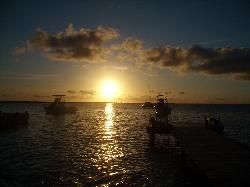 sunset view from Habitat
