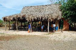 the hut at the airstrip