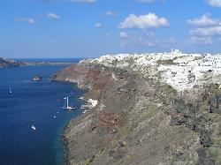 View of Oia from Ikies