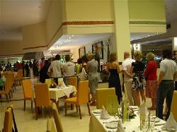 Line up at Buffet Dec 24 Dinner