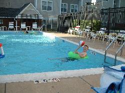 At the pool - Residence Inn Fair Lakes in  Fairfax, VA