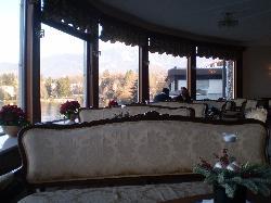 lounge overlooking the lake