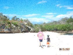 Blindingly white sand!
