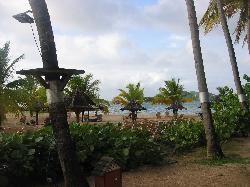 View of Beach from beachfront room