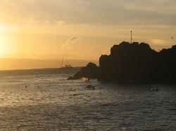 Black Rock, site of nightly sunset ceremony at the hotel