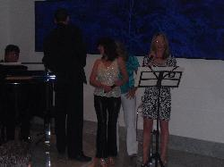 Singalong with the piano night.  The girls were dubbed