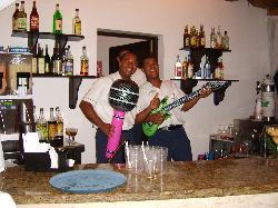 Pool Bar Staff - gettin' on down!