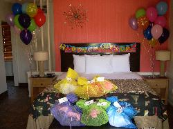 Our room before the birthday girl arrived.