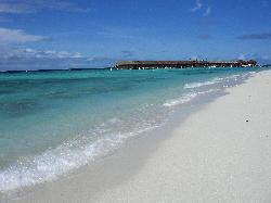 beach outside the Delux villas