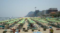 The beach umbrellas!