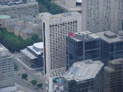 The Hilton from the CN Tower's 360 Restaurant