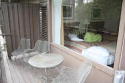 our balcony and room (Hemlock 2nd floor)