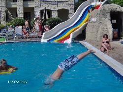 Josh diving in the pool