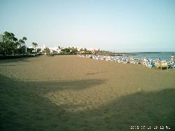 The beach. Blue flag.