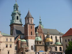 the spires of church in Wawel castle (18290842)