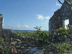 The ruins of the plantation at San Salvador's southern tip