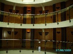 View across 4th floor balcony