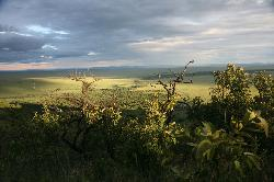 fantastic view from the camp over the Reserve and the River Mara
